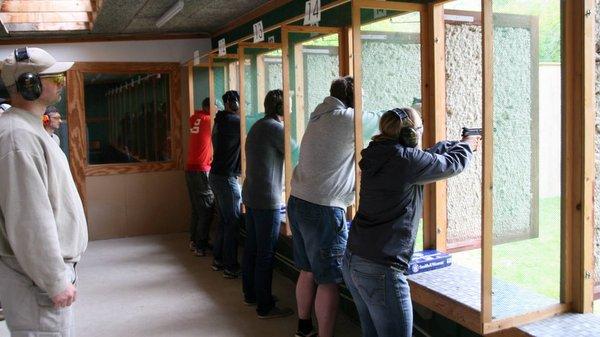 Indoor range shooting
